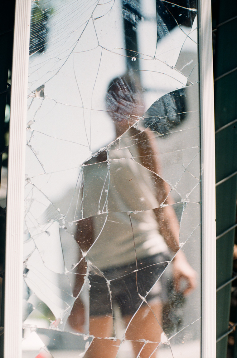 andria blurry in a shattered mirror