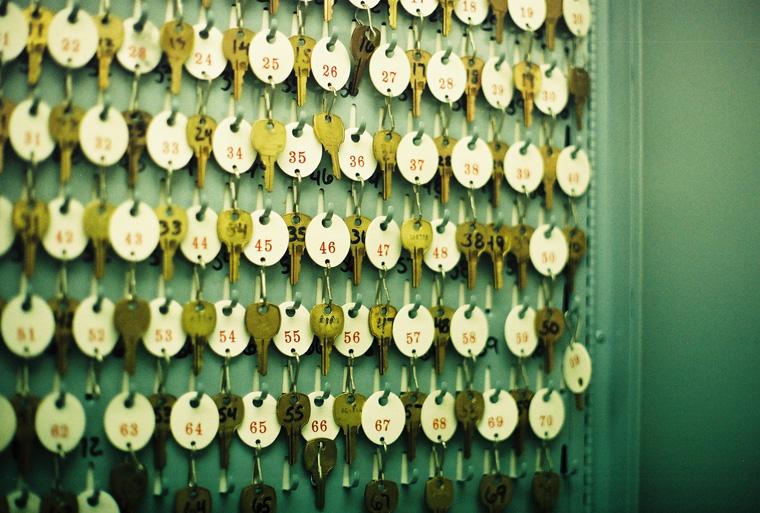 scenery - lab keys in a closet