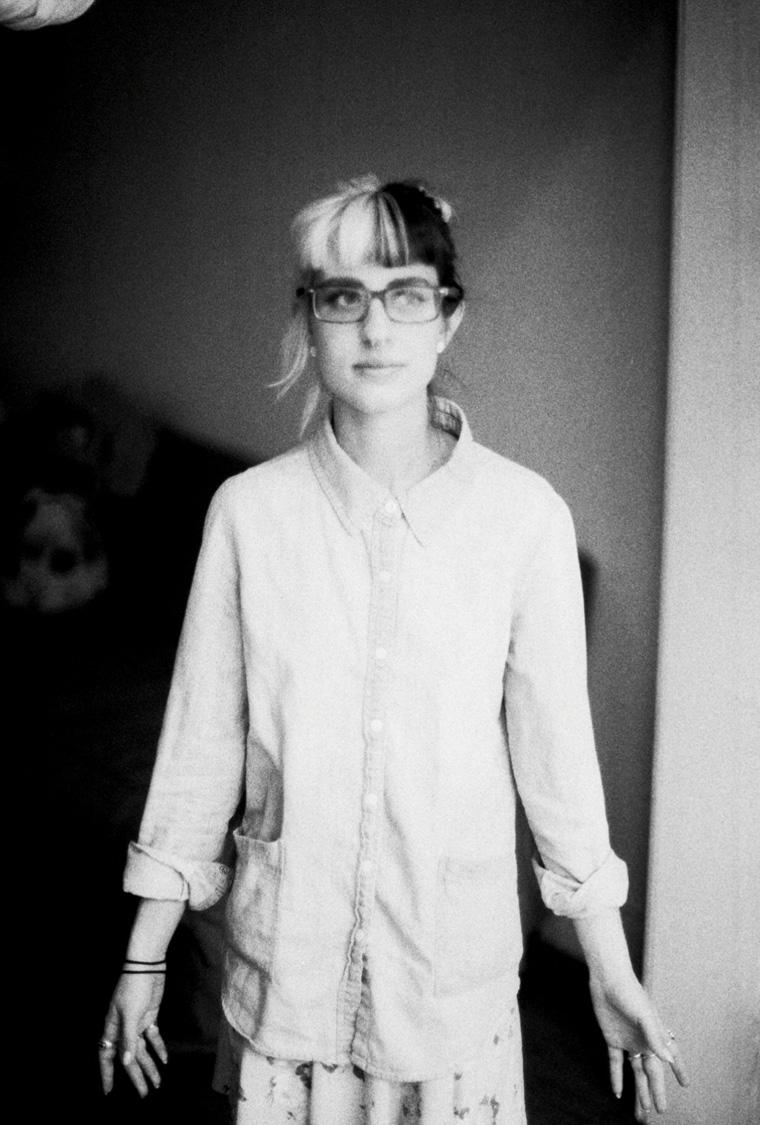 lauren black and white grainy old film