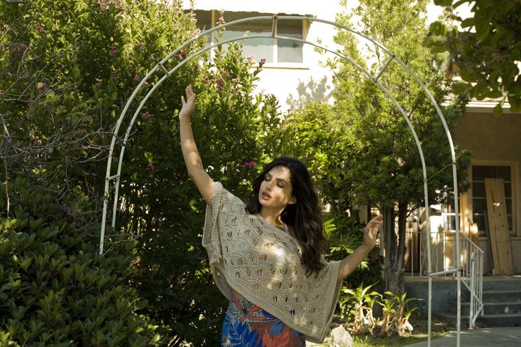 priscilla in garden arch